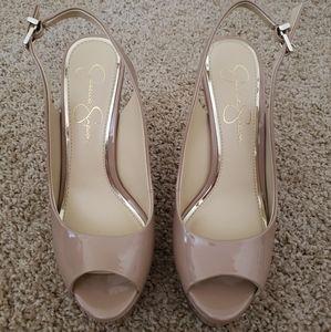 Jessica Simpson Beige Sandal Heels